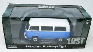 Greenlight 1/24 Volkswagen VW Type 2 Bus Dharma Van Diecast Hollywood LOST NIB