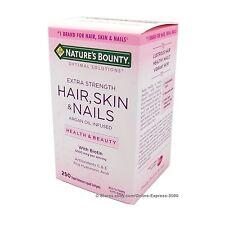 Nature's Bounty HAIR SKIN and NAILS Extra 5000 mcg Biotin Argan Oil 250 Softgels