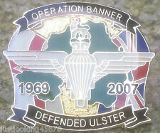 PARACHUTE REGIMENT OPERATION BANNER PIN POPPY PARA BRITISH ARMY UVF UDA BADGE