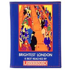 Travel Pass/Oyster Card Holder - Printed Leather  - 'Brightest London'