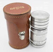 Argus Tele-Sandmar 100mm F4.5 Argus C3 Brick Mount Prime Lens w/ Case & Hood