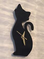 Handmade Cute Cat Silhouette Wall Clock