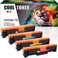 4PK Toner Cartridges for Canon 118 Color ImageCLASS MF8580CDW MF8380CDW MF726CDW