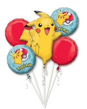 POKEMON CORE Balloon Bouquet Kit Birthday Decoration Party Supplies, Pokémon 5pc