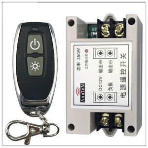 DC 12V 40A  Dual Remote Controller Light Switch Input /Output  Wireless Receiver