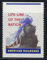 VEGAS - Vintage American Railroad Train Promotional Poster Stamp - Read - (CR20)
