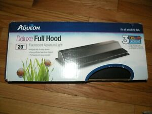 Aqueon Deluxe Full Hood Black 20 Inch Fluorescent Aquarium Light   FREE SHIPPING