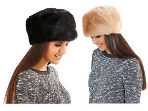 Womens Luxury Faux Fur Russian Cossack Style Hat Ladies Winter Warm Head Wrap