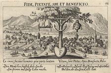 Kanton Uri (Schweiz).- Kupferstich/Meisner Schatzkästlein, um 1624