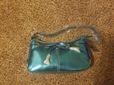 Rina Rich Handbag Aqua Blue Metallic Hobo Shoulder purse