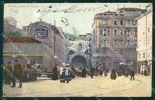 Trieste Città Tunnel di Montuzza PIEGHINE cartolina VK1667