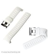 Suunto D6 / D6i Silikon Armband Set in weis mit Verlängerungsband -original -Neu