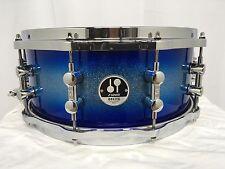 "Sonor Delite 14"" Diameter X 6"" Deep Maple Snare Drum/Blue Silver Sparkle Burst"