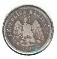 1891 DoP MEXICO 10 CENTAVOS RARE