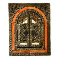 Orientalischer Marokkanischer Spiegel Orient Messing Wandspiegel S10 H25 cm