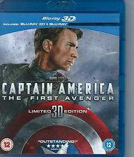 BLUE RAY disc - CAPTAIN AMERICA FIRST AVENGER 2-D and 3-D ENGL   region 2