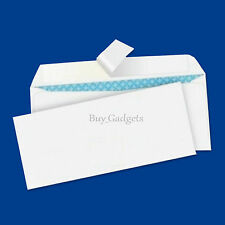 Quality DL Plain 100gsm White Envelopes Peel and Seal Strong Paper 110mm X 220mm 10