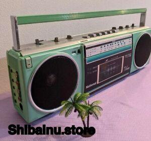 Playable National Fancy 80s Radio-cassette body rare color  retro Japan