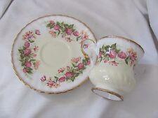 Elizabethan pink floral cup & saucer set demitasse espresso gold rim