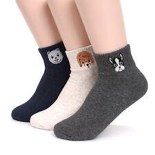 Dog Ankle Middle Cut Women's Socks Pack of 5pairs Made in Korea Socks JN