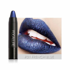 2017 Waterproof Makeup Lip Pencil Shimmer Metal Metallic Lipstick Lipgloss 21#