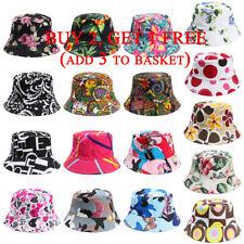 Fashion Cotton Floral Bucket Hat Outdoor Sunscreen Fishing Fisher Sun Beach Cap