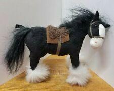 "Disney Store Pixar BRAVE ""ANGUS"" Merida's Black Horse Stuffed Toy Plush mini 7"""
