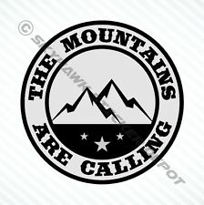 Mountains Are Calling Bumper Sticker Vinyl Decal Car Decal Truck Hiking Macbook