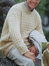 Knitting Pattern Lady/'s Gorgeous Aran Textured Sweater  81-102 cm 196