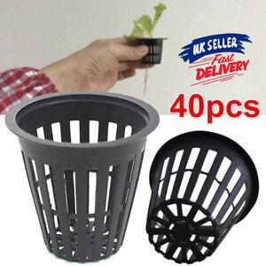 40pcs Hydroponics Plant Grow Net Cup Mesh Mesh Pot Basket Aeroponic Aquaponic