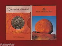2002 Year of the Outback $1 unc Coin - 'B' Brisbane Mint Mark