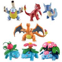 Tomy Pokemon Charizard/Ivysaur/Charmeleon/Wartortle Figure Doll Kid's Boys Gifts