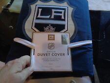 Pottery Barn Teen NHL Hockey duvet Los Angeles Twin navy blue New