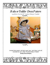 Sweet Dress and Hat Pattern for Baby Sasha/Toddler~ Simply Grace Designs