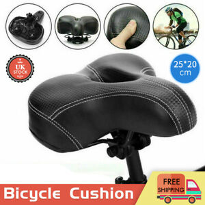 Universal MTB Extra Wide Comfy Cushioned Bike Seat Soft Pad Bicycle Gel Saddle