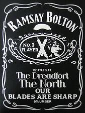 Juego de Tronos Camiseta Inspirada Top Hombre y Mujer Ramsay Bolton Reek Flayer