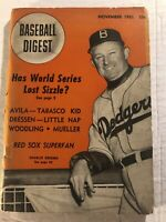 1951 Baseball Digest BROOKLYN DODGERS Charlie DRESSEN No Label WORLD SERIES Kid