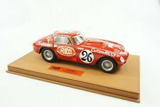 1/18 BBR FERRARI 375MM CAR #26 PANAMARICANA DELUXE BROWN LEATHER BASE LE 3 PC MR