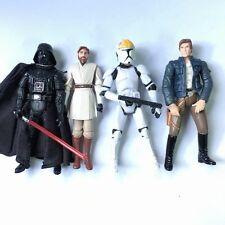 4Pcs Star Wars Action Figure Darth Vader, Obi-Wan, Han Solo, Clone Trooperc Toys
