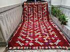 Moroccan Vintage Handmade Azilal Rug Beni Ourain Carpet Berber Tribal Rug