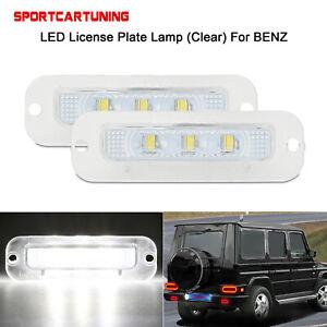 2X LED Kennzeichenleuchte Lampe Für 1990-12 Mercedes G-Klasse W463 G500 G550 G55