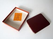 Ancien porte carte en cuir brun LE TANNEUR Vintage
