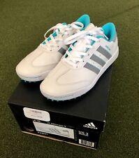 Adidas JR adicross V Junior's Spikeless Golf Shoe Size 3M White/Gray/Blue