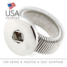 Snap Button Adjustable Stretchy Ring Fits18-20mm Ginger, Noosa, Magnolia, Vine