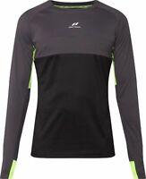 Pro Touch Herren Laufenshirt Runningshirt Langarmshirt Dry Plus schwarz gelb
