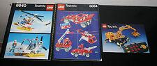 LOT 2 NOTICES LEGO TECHNIC 8064 + 8640 + CATALOGUE PUBLICITÉE 1990