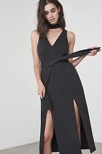 Lavish Alice Double Split Grafik Kleid in Schwarz Größe 12 RRP £ 66.00 SA078 FF 03