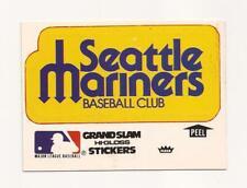 """1979 Fleer """"Vintage"""" MLB Seattle Mariners GRAND SLAM Sticker (White)"""