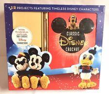 DISNEY Mickey Minnie Crochet Kit 12 Projects Arts Crafts Plush Toy Doll Gift