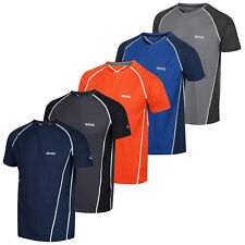 Regatta Mens Soft Light Comfort Summer T shirt Quick Dry Tee Rock Grey Marl